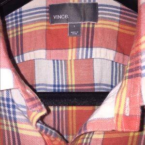 Vince Camuto Shirts - Vince.  By Vince Camuto 75/25 cotton/linen plaid